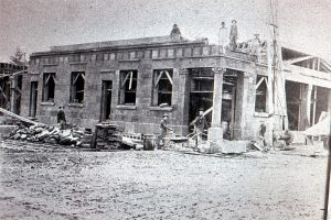 Old Bank under construction about 1906-1907 Tenino