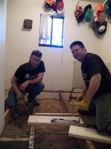 Rebuilding Together Floor Installation