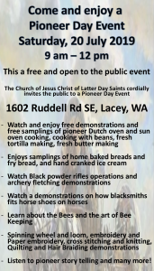 Pioneer Day Event @ Church of Jesus Christ of Latter Day Saints