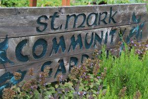 st marks garden sign