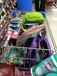 Back to School Shopping Cart
