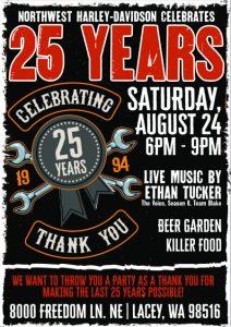 25th Year Anniversary Celebration @ Northwest Harley-Davidson