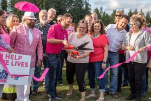 Lacey South Sound Chamber American Cancer Society Real Men Wear Pink ribbon cutting