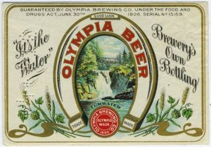 Olympia Beer its the water