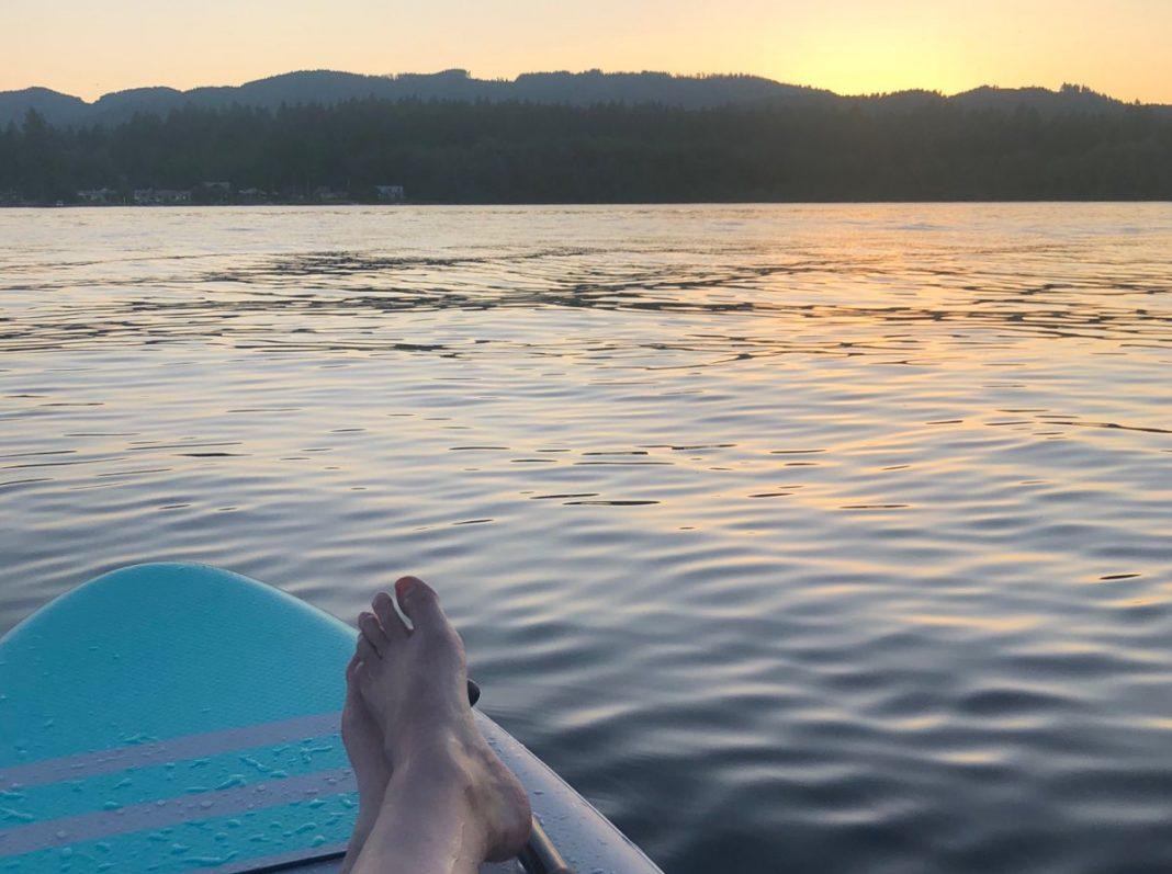 Paddleboarding in Olympia Tumwater Black Lake