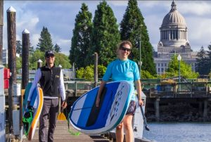 Paddleboarding in Olympia Washington