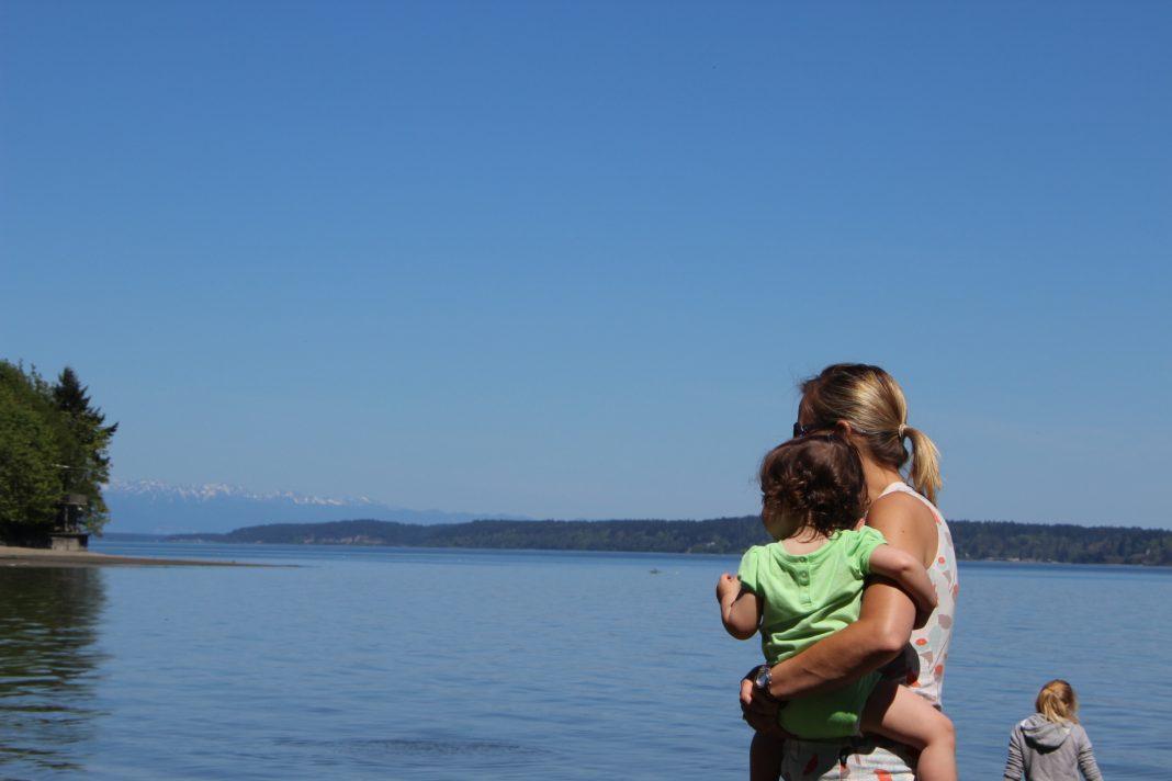Paddleboarding in Tolmia State Park Lacey Washington