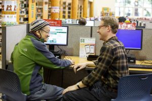 Timberland Regional Library Lacey Staff Matt Provides Help