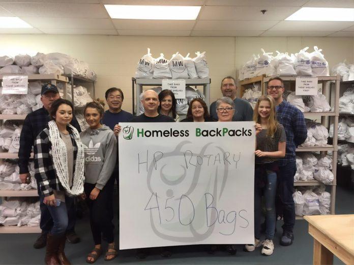 Hawks Prairie Rotary blog spring auction Homeless Backpacks volunteers