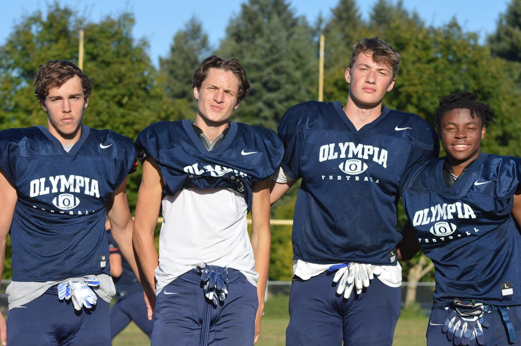 Olympia football defensive backs