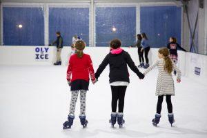 Oly on Ice Skating Trio