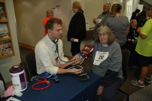 Providence St Peter Hospital Blood pressure checks at event