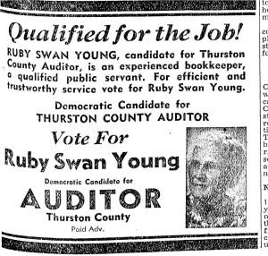 Ruby Swan Young auditor ad