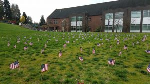 Saint Martin's University Veterans Day and Procession Flags