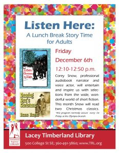 Listen Here: A Lunch Break Story Time for Adults @ Lacey Timberland Library