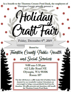 Thurston County Employee Holiday Craft Fair @ Thurston County Public Health and Social Services Department