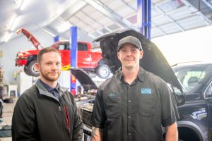 Boss Auto Repair in Olympia Owner Gary Morrison and Manager Seven