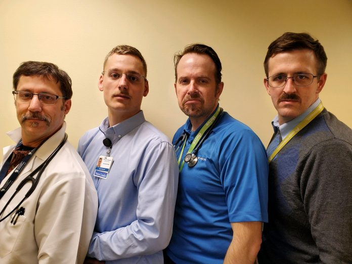 Kaiser Permanente Movember Crew from Olympia Medical Center
