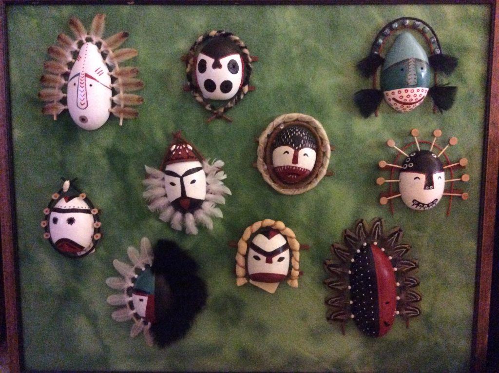 Native Art Fair 2019 Vickie Alutiiq Mini masks