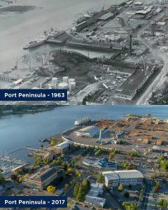 Port of Olympia 100 years Port Peninsula 1963 vs 2017