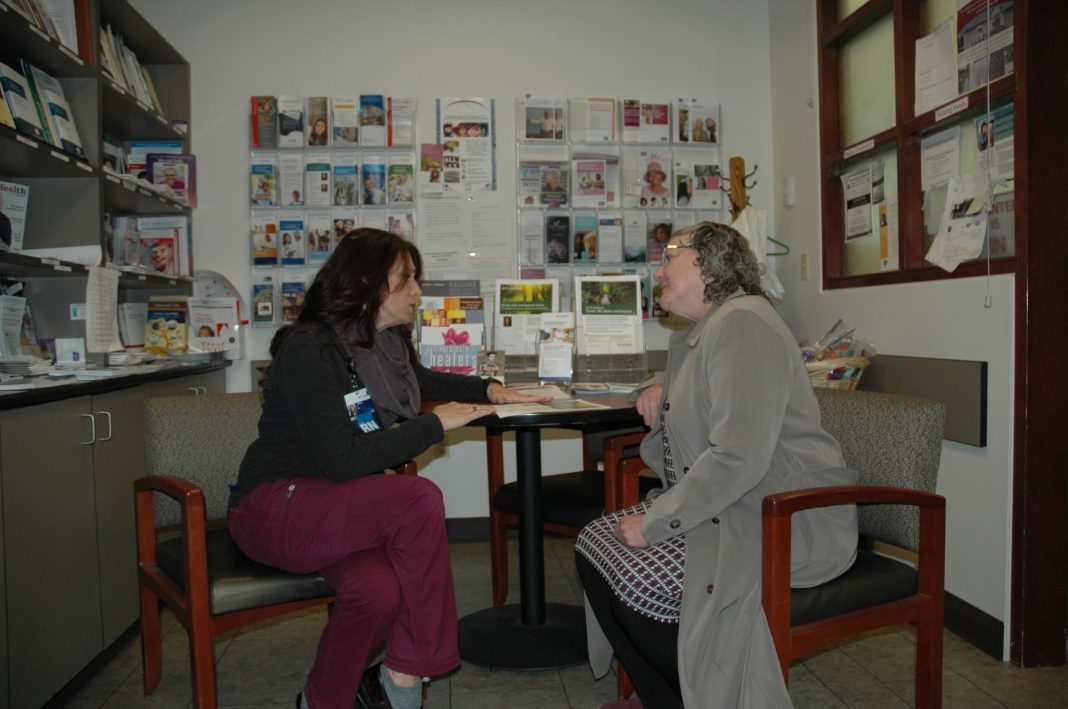 Providence Regional Cancer System Tiffany and Becky consultation