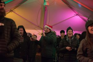 Saint Martins University Christmas Under the Canopy Darrell Born and the crowd