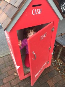 Betsy in Donation Box