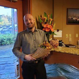 Budd Bay Cafe catering manager Dan Merscher