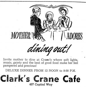 Crane's Cafe mother's day