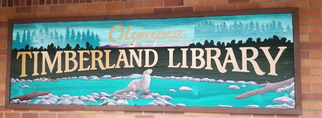 Olympia Timberland Library artful welcome