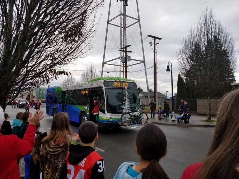 Yelm Christmas in the Park 2019 Jingle Bus