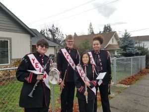 Yelm Christmas in the Park Marching Band