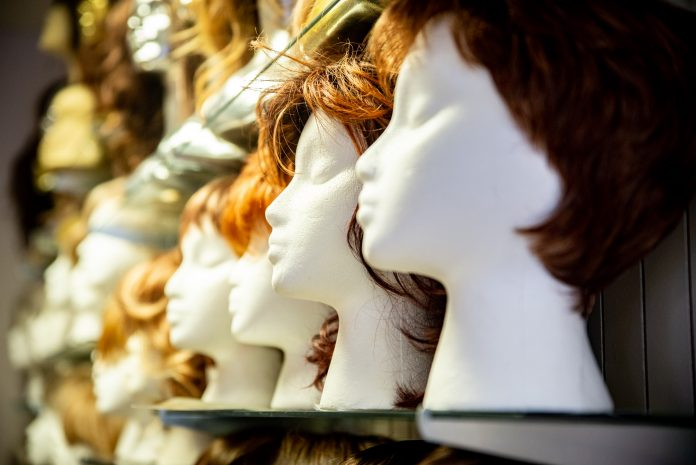 Merle Norman Cosmetics Wigs and Day Spa Types of Wigs Wall of Wigs