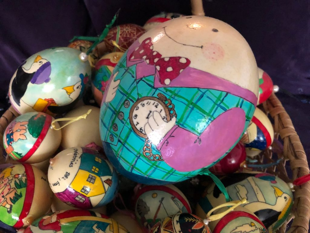 Pam Corwin painted eggs