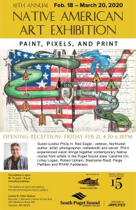 Native American Art Exhibition - Paint, Pixels, and Print @ The Leonor R. Fuller Gallery