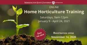 Registration Open for WSU Extension Home Horticulture Training @ Online Registration