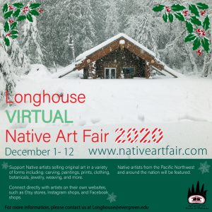 Longhouse Holiday Native Art Virtual Fair @ Online
