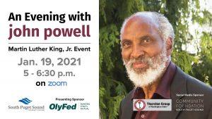 An Evening with john powell: SPSCC's Virtual MLK Event @ Virtual