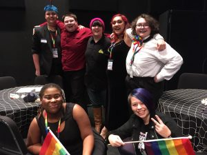 Pizza Klatch Gayla Students at Gayla Feb 2020