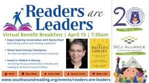 Readers Are Leaders Benefit Breakfast for South Sound Reading Foundation @ Virtual
