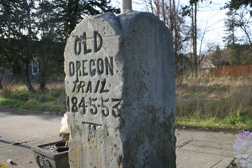 Tenino-Oregon-Trail-Marker-Highway-507-educational-day-trip