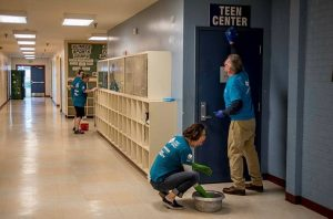 Puget Sound Energy Powerful-Partner-clean-up-event-at-North-Everett-Club