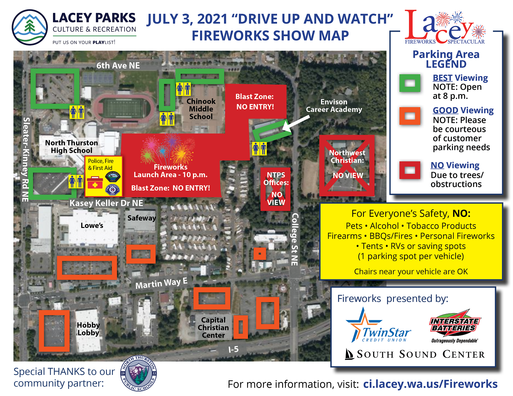 City of Lacey Fireworks July 3 2021