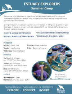 Estuary Explorers Summer Camp (3rd-5th Grade) @ Puget Sound Estuarium
