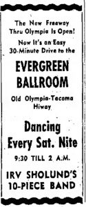 Evergreen-Ballroom-Lacey History Irv-Sholund-10-Piece-Band-1959