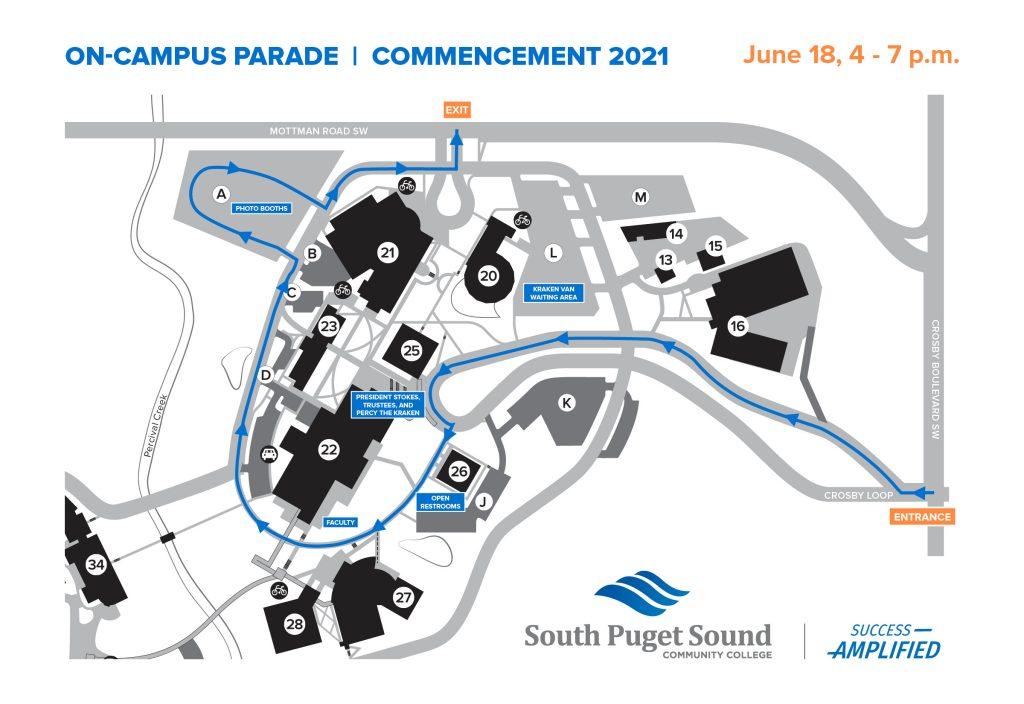 SPSCC graduation 2021 Parade_Map_route