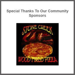 Stone creek woodfired pizza logo