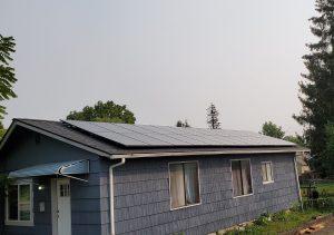 homes first Solar sunflower