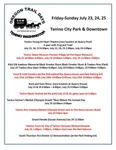 Tenino Oregon Trail Days @ Tenino City Park