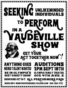 Vaudeville Show Auditions @ Olympia Family Theater
